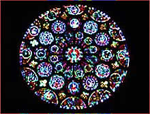 Chartres cathedral main roseate window