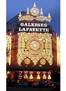 Christmas time at Galeries Lafayette
